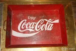 Ritka darab! Coca-Cola dombornyomott fém tálca