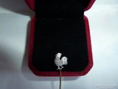 14k arany tű rózsa csiszolású gyémántokkal