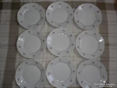 9 db Zsolnay desszertes tányér