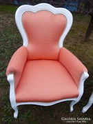 1 db restaurált neobarokk fotel