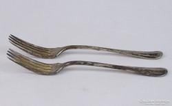 0J721 Régi ezüstüzött BERNDORF alpakka villa pár