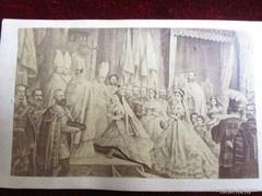 ERZSÉBET KIRÁLYNÉ SZISZI KORONÁZÁS MÁTYÁS TEMPLOM FOTÓ 1867