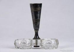 0J770 Régi üveg asztali fűszertartó