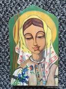 Festett fatábla, Gyimesi Csángó Madonna-K.Székely Júlia (43)