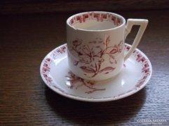 Sarreguemines antik csésze és csészealj