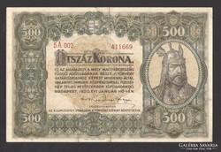500 korona 1920.  NAGYON SZÉP!!!