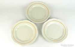 0K358 Retro Zsolnay porcelán tányér készlet 3 db