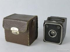 0J803 Régi DUPLAR boxfényképező gép bőr tokjában