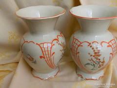 Antik gyönyörű PM porcelán váza pár