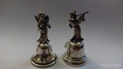 Ezüst kis csengők angyal figurákkal