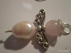 Tenyésztettgyöngyös-rózsakvarcos kisebb angyalka