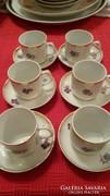 Hollóházi kávés készlet 6 személyes