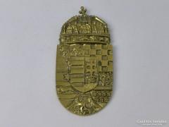 0J879 Réz magyar címer faliplakett