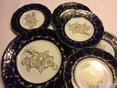Shanghai süteményes porcelán kobalt-arany