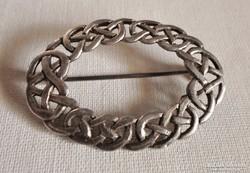 Szép régi szecessziós   ezüst  bross