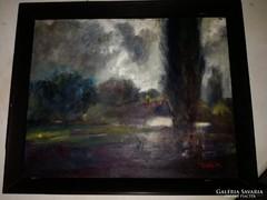 Csíkós Miklós festmény-Vásárhelyi tanya