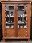 0C776 Antik biedermeier könyvszekrény