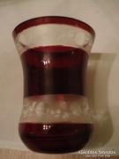 Bíbor pácolt csiszolt üvegpohár