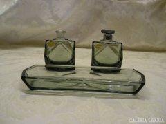 Art Deco füstszínű parfűmös szett