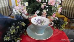 Aynsley  Ibolya csokorral  díszített csésze és csészealj
