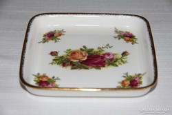 Négyszög alakú tálka - Royal Albert Old Country Roses
