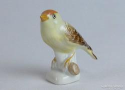 0K055 Régi Aquincum porcelán madár figura