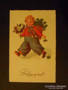 Régi újévi képeslap