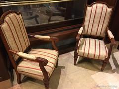 Antik ülőgarnitúra,cseresznyefából készült,új kárpit!!!