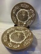 IRONSTONE ENGLISH ENGLAND 6 db barna jelenetes sütis tányér