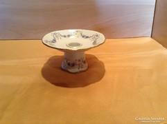 Gyönyörű,jelzett porcelán gyertyatartó