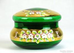 0J354 Régi Bohemia üveg bonbonier
