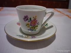 Virágmintás porcelán kávéscsésze