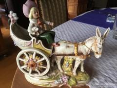 Lippendorfi hintós porcelán hibátlan