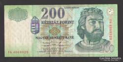 "200 forint 1998. ""FG"".  Ritkább!"