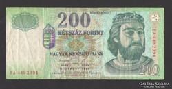 """200 forint 1998. """"FA"""".  A legelső, papír 200-as!"""