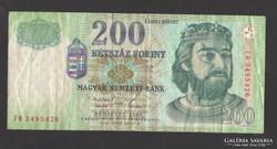 "200 forint 1998. ""FH"".  Ritkább!"