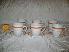 Zsolnay kávéskészlet - hat személyes