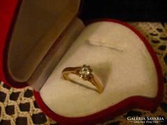 14 k. arany brill női gyűrű
