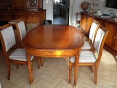Warrings Salzburg étkezőasztal 5 székkel