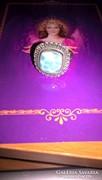 Csodaszép kézműves larimar drágaköves ezüst gyűrű