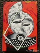 Orbán Attila (1958 - ): Rögzítettek című absztrakt festménye