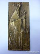 Madonna gyermekkel - bronz relief
