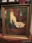 Gergely Imre antik olaj festménye szép keretben 58*48 cm