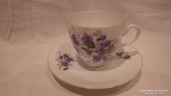Ibolyás porcelán csésze + alj (1)