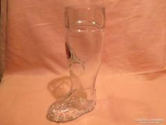 Paulaner München csizma alakú üveg korsó A022