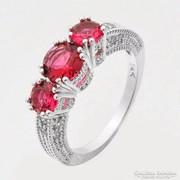 Rubin színű gyűrű 8-as ÚJ!