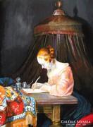 Gerard ter Borch: Levelet író nő 75000 Ft