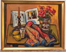 Tokay Ilona (1907-1988 ) Csendélet képcsarnokos festménye