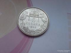 1900 magyar ezüst 5 korona keresett érme,24 gramm 0,900 II