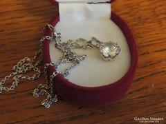 Mesés hercegnő csiszolású ezüst medál